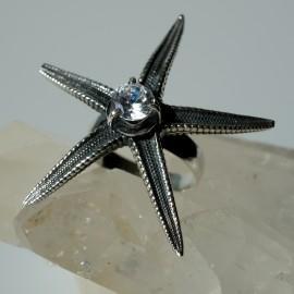 """Žiedas su Cirkoniu """"Jūros žvaigždė"""" Ž322"""