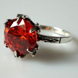 Žiedas su oranžiniu Cirkoniu Ž100