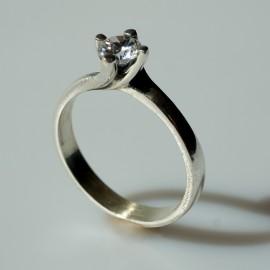 Žiedas su Cirkoniu Sužadėtuvių Ž125