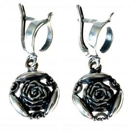 Cерьги Цветок розы