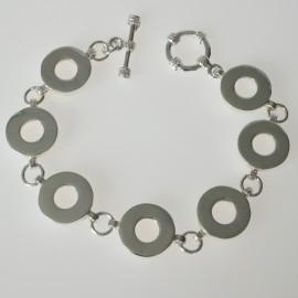 Bracelet white castors