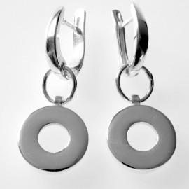 Earrings white castors