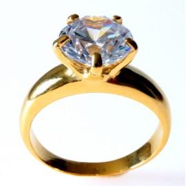 Žiedas Sužadėtuvių Auksuotas su Cirkoniu Ž731Au