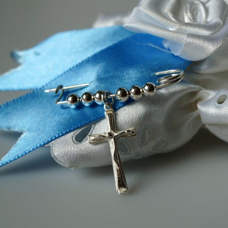 """Brooch for christening """"with a cross"""""""