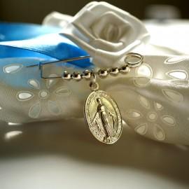"""Брошь крещения """"с медальоном Марии"""""""