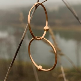 Gold earrings Hoop with bubble 2.2