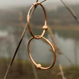 Золотые Cерьги-кольца (конго) с пузырем 2.2