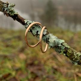 """Gold earrings Hoop """"Au Austėja 1,5"""""""