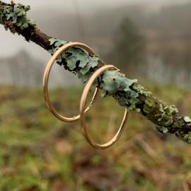 """Gold earrings Hoop """"Au Dirvolika 2,2"""""""