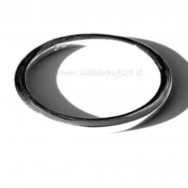 Žiedas minimalistinis nestandartinėmis kraštinėmis