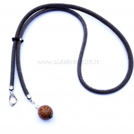 One-Piece Necklace with Royal Agate