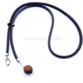 Oжерелье с королевским агатом