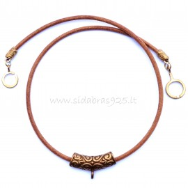 Bronze necklace with pendant for your stone BKR