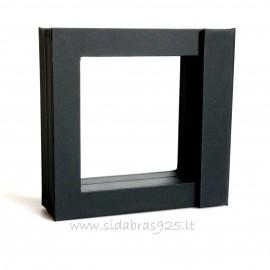 """Dovanų dėžutė """"Rėmeliai 3D"""" TW28 juoda 70X70"""