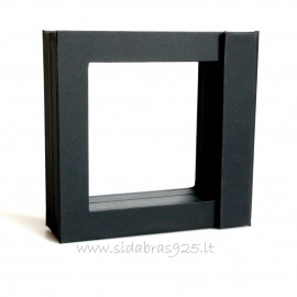 """Коробка подарочная """"Рамки 3D"""" TW28 чёрная 70X70"""