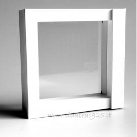 """Подарочная коробка """"Рамки 3D"""" белая"""