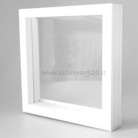 """Dovanų dėžutė """"Rėmeliai 3D"""" balta"""