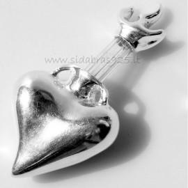 Подвеска серебряное сердце «Фонтан жизни»